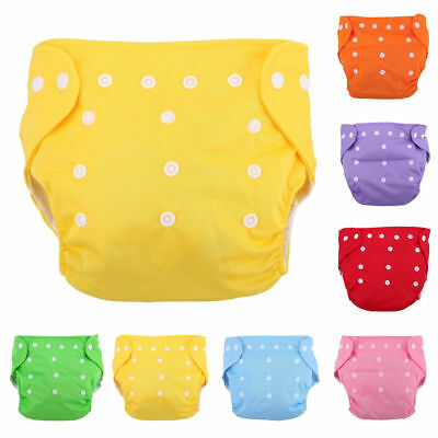 5 Diapers+ 5 INSERTS Adjustable Reusable Lot Baby Washable Cloth Diaper Nappies 2