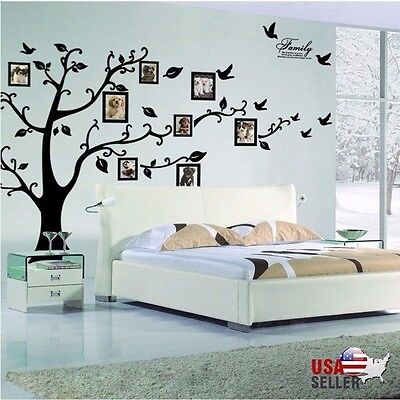 Family Tree Wall Decal Sticker Large Vinyl Photo Picture Frame Removable Black 2