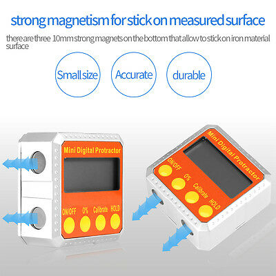 Digital Protractor Electronic Inclinometer Angle Gauge Meter 360° Magnetic Base 11