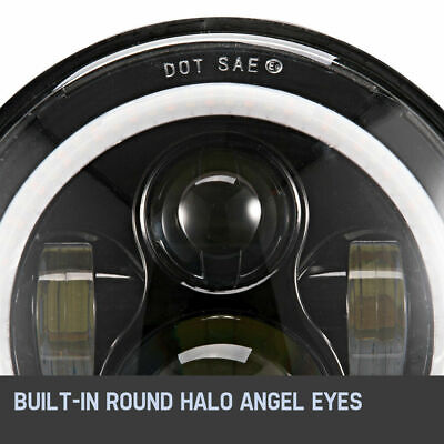 7 inch 200W CREE Round LED Headlights Jeep Wrangler TJ JK 97-17 Halo Angel Eyes 8