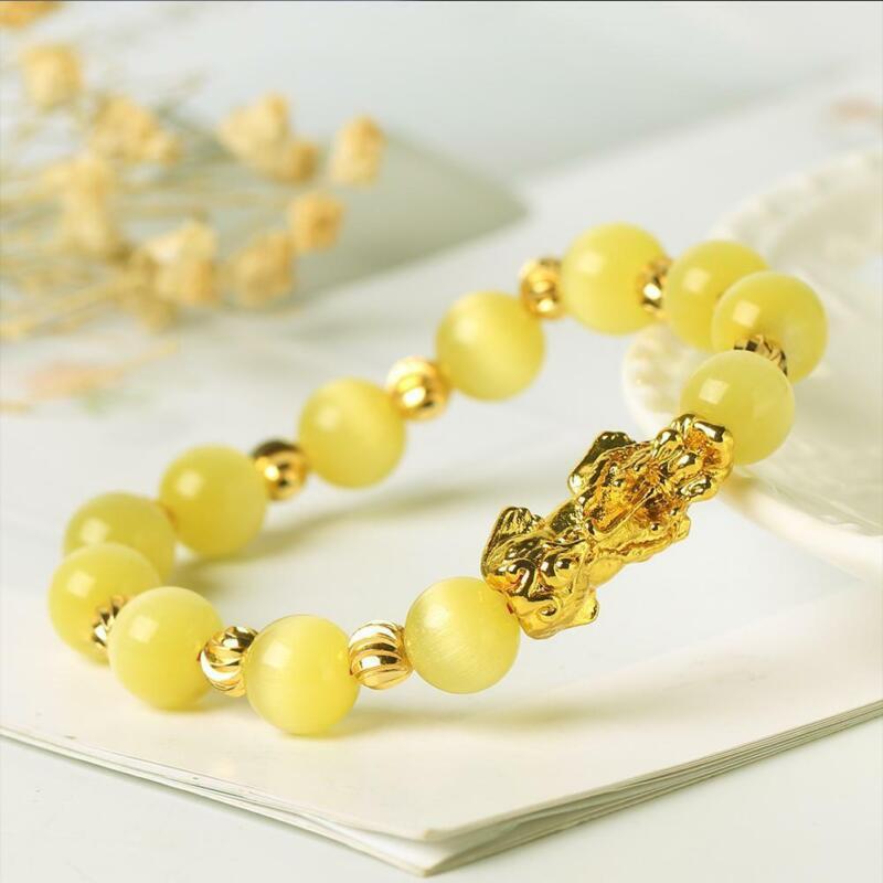 Pixiu Chinese Good Lucky Charm Feng Shui Pi Yao Wealth Bracelets Jade Jewelry 6