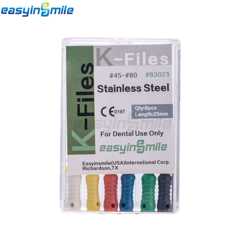 10XDental Endo Root Canal File K-FILES Stainless Steel Hand Use 25mm EASYISNMILE 10