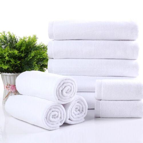 "Soft 70*140cm Luxury Hotel Spa Bath Towel Warmer Cotton White Towels#"" 5"