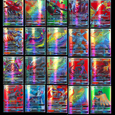200pcs Pokemon carte GX Toutes MEGA Holo Flash Art Trading Cards Xmas Cadeau FR 4