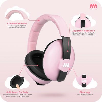 Mumba Baby Earmuffs Ear Hearing Protection Noise Cancelling Headphones For Kids 7