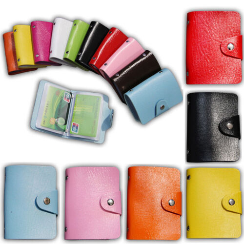12 Cards PU Leather ID Credit Card Holder Card Wallet ID Mini Unisex New Purses 4