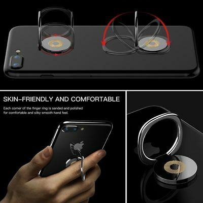 Rose Gold Black 2 Pack Phone Finger Ring Stand YuCool 360/° Rotary Universal Cell Phone Holder Finger Loop Grip Mount for iPhone 4 Piece Ring Hook Mount Samsung Galaxy
