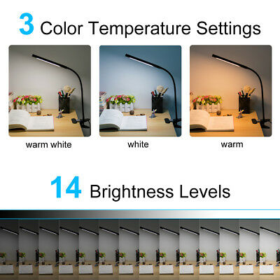 Dimmable Flexible USB Clip-On Desk 48 LED Table Reading Book Lamp 5W Light 4