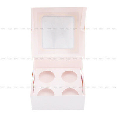 Cupcake Box Cases 1 hole 2 hole 4 hole 6 hole 12 hole 24 hole Window Face Gift 6