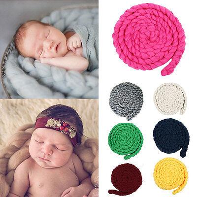 Newborn Baby Infant Photography Props Photo Posing Knitting Wool Blanket 0-12Mon