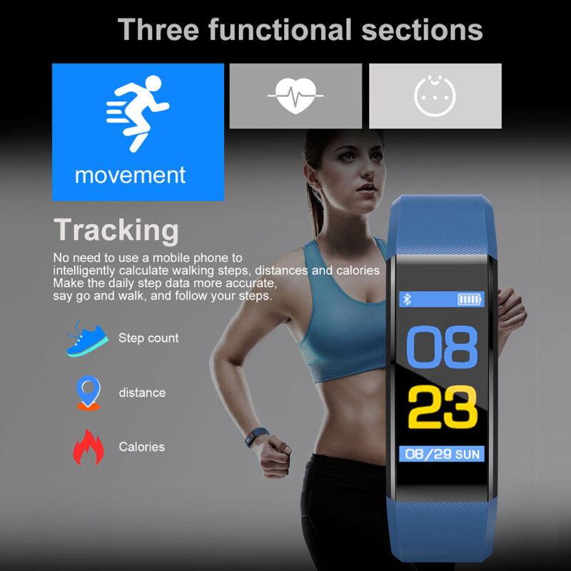 Fitness Smart Watch Activity Tracker WomenMen Kids Fitbit Android iOS Heart Rate 5