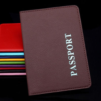 Passport Cover Wallet Travel Holder ID Cards Case Organizer Business PU Leather 2