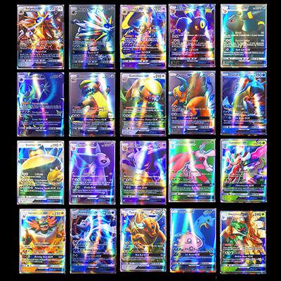 200pcs Pokemon carte 195 GX Toutes 5 MEGA Holo Flash Art Trading Cards Cadeau 8
