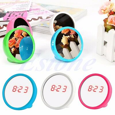 Mirror Alarm Clocks LED Digital Display Beauty Mirror For Travel Outdoor Camping
