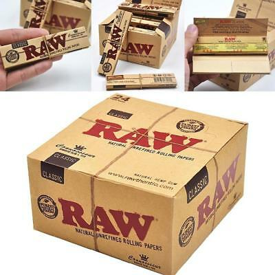 Raw Classic Connoisseur Kingsize Slim Papers + Tips - Smoking Tobacco Rolling 4