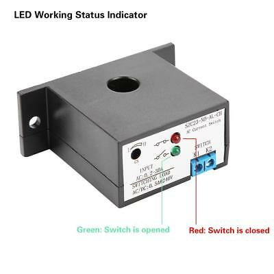 Normally Open Current Sensing Switch Adjustable 0.2-30A SZC23-NO-AL-CH w/LED xi 9
