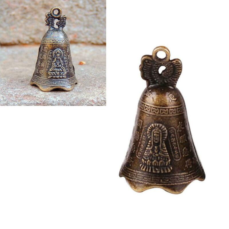 China's Mini Brass Copper Sculpture Pray Buddha Feng shui bell 48*30mm Gifts