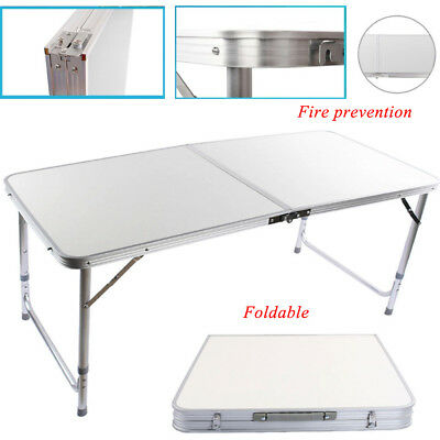 Adjustable Heavy Duty Folding Catering Camping Trestle Picnic Bbq Party Table 2