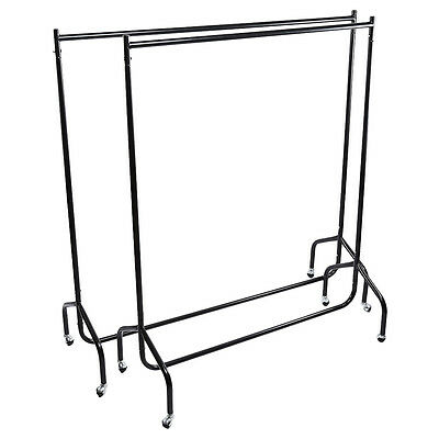 Super Heavy Duty Garment Clothes Rail Metal Garment Hanging Display Stand Rack 9