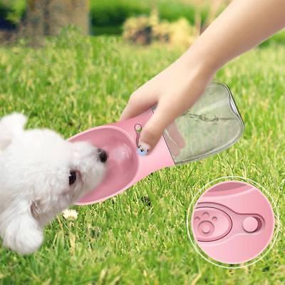 Bebedero de Botella Portable Plástico Viaje Agua Dispensador Para Mascota Perro
