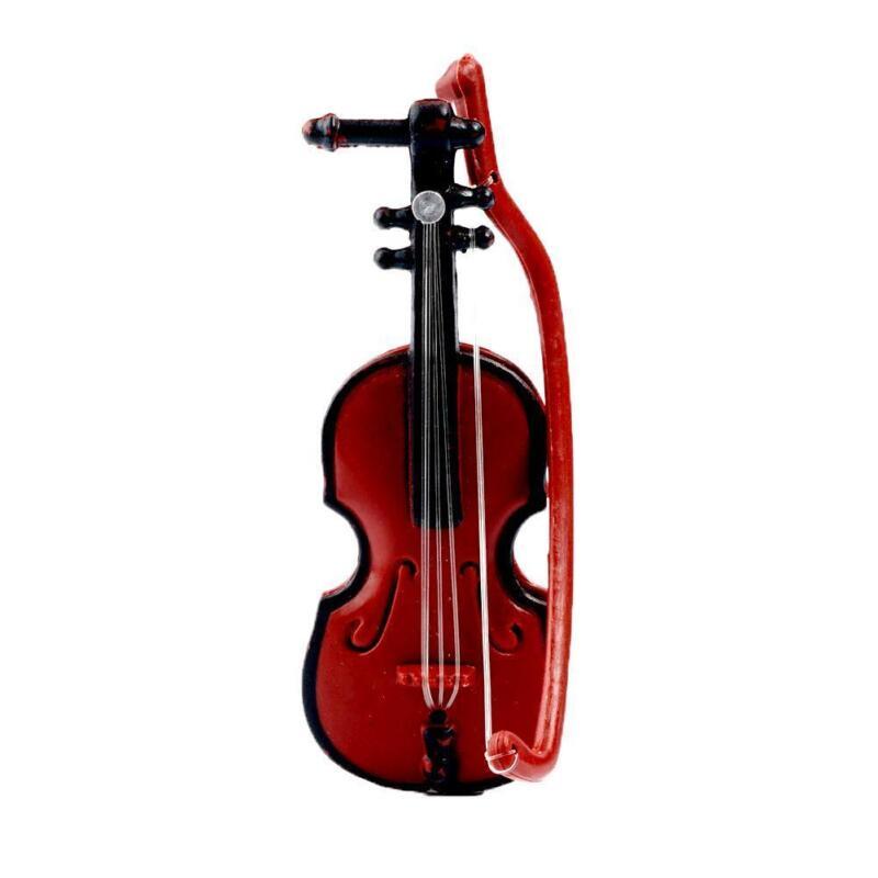 1:12 Doll House Miniature Music Instrument Violin Model Room Mini-Instrument New 3