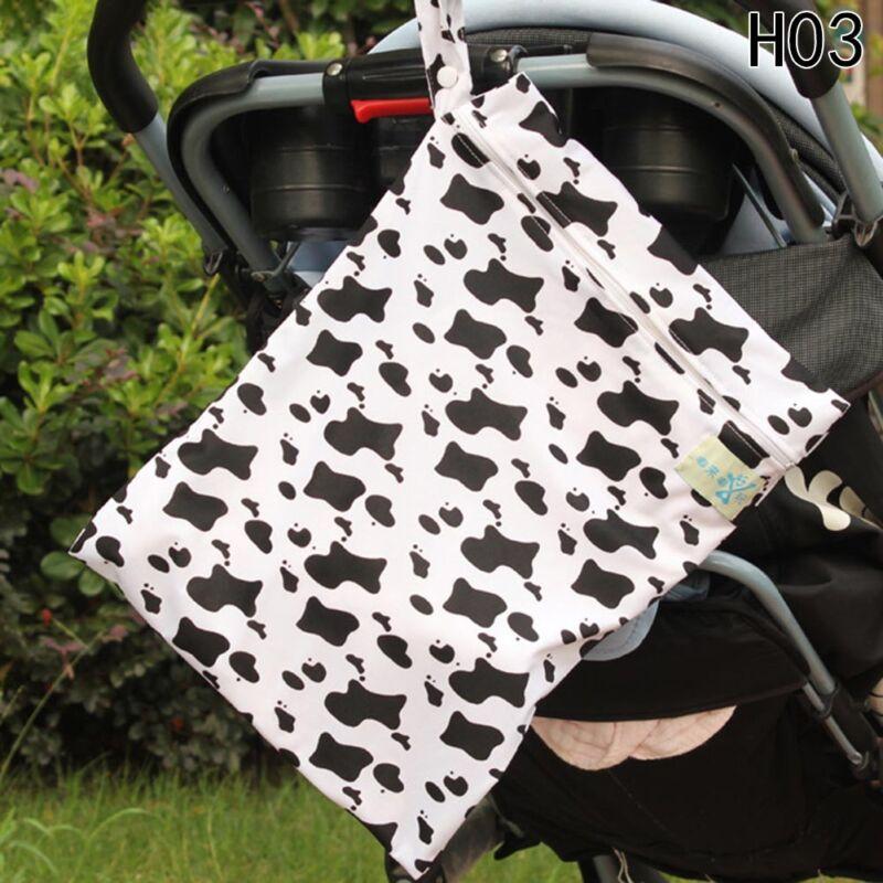 Infantil impermeable Zip Bolsa seca húmeda Paño bebé Pañal Bolsa Reutilizable 9