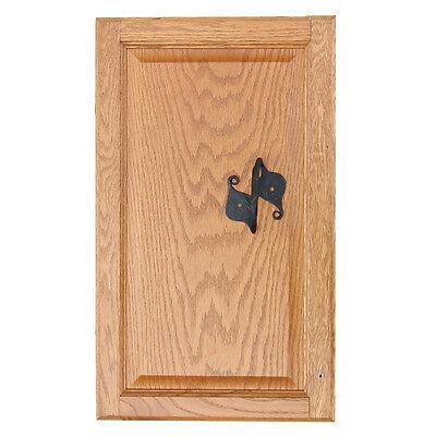 Handforged Simple Leaf Iron Casket Cabinent Door Trucnk Handle 2