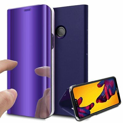 Luxury Mirror View Clear Stylish Flip PU Case Cover For Huawei P20 Lite P20 Pro 4