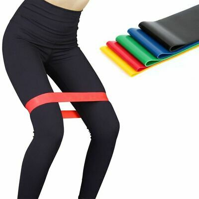 Resistance Bands Loop Set of 5 Exercise Workout CrossFit Fitness Yoga Booty Band 9