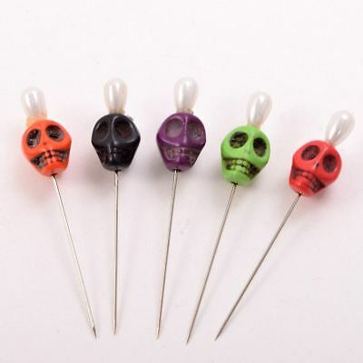 7pcs Skull Head Pattern Pins Evil Voodoo Curse Needles Voodoo Doll Accessory 5