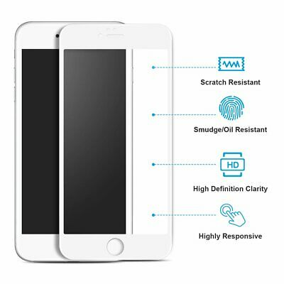 For iPhone 8 7 6S 6 Plus Caseswill FULL COVER Tempered Glass Screen Protector 6