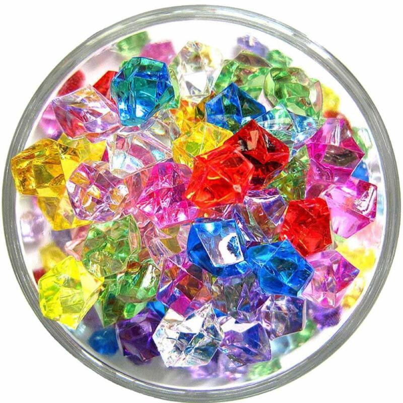100Pcs Acrylic Crystal Beads Stone Nugget For Fish Tank Aquarium Decor SKN 2