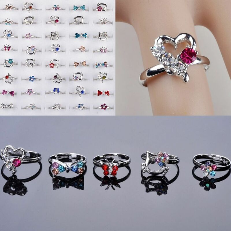 100/20Pcs Vintage Tibet Flower Silver Rings Wholesale Mixed Lots Costume Jewelry 11