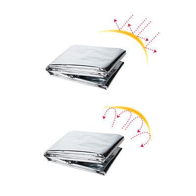 Outdoor Survival Emergency Mylar Waterproof Sleeping Bag Foil Thermal Blanket 5