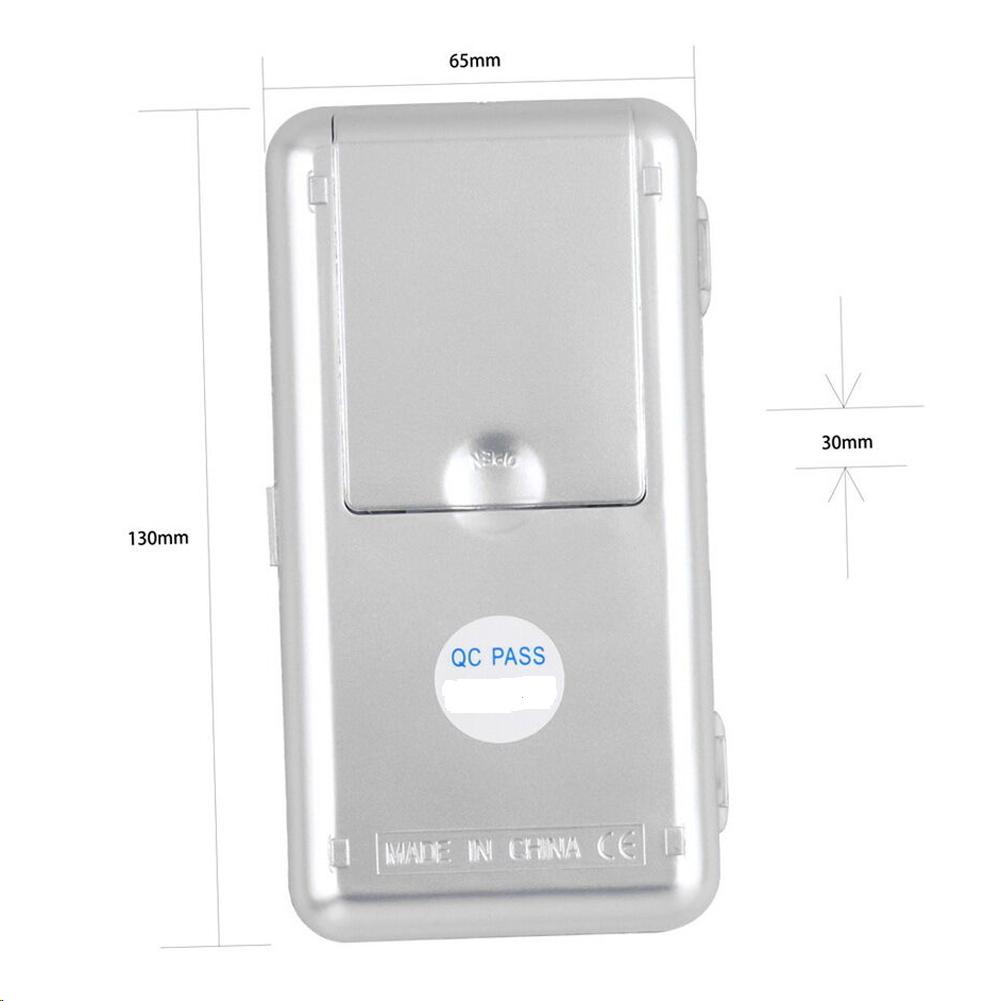 Mini Digital Balance poche électronique de Précision 0.1-500 g Pèse Bijoux herbe 4