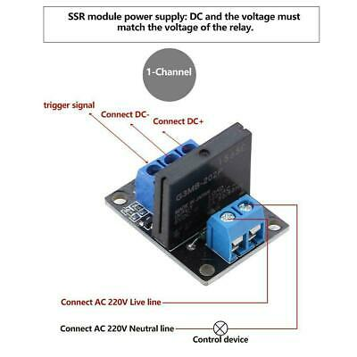 DC 5V/12V 1 Channel Solid State Relay Module Board High & Low Level Trigger 2A 5