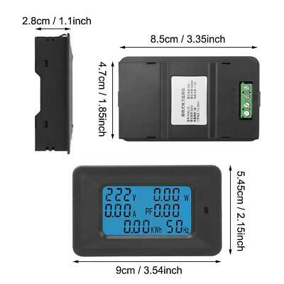 6 in 1 Digital AC Meter Voltage 110V-250V Current 20A Power Factor KWH Frequency 2