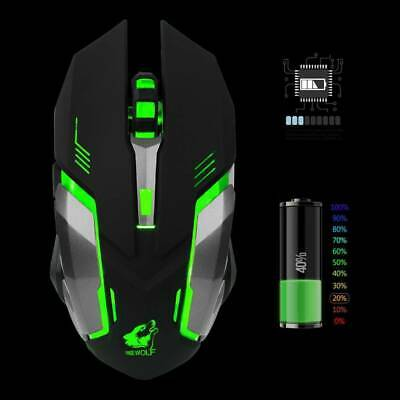 Led Laser Usb Wireless Optical Game Gaming Mouse Rechargable X7 10