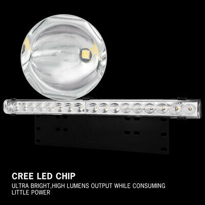 20 inch CREE LED Light Bar With Number Plate Frame For Car SUV Offroad Trucks 4