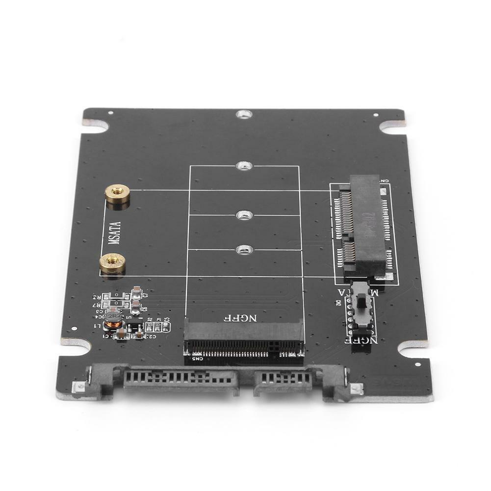 2 in 1 mSATA to SATA NGFF M.2 to SATA3 Adapter Card SSD Solid State Disk Drive 6