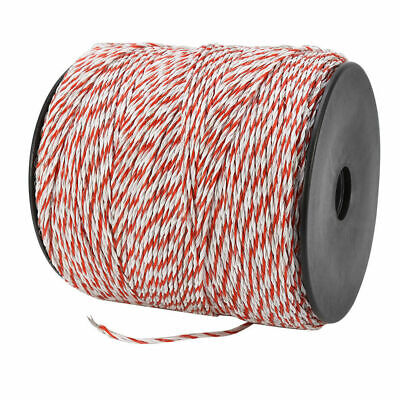 4x500m Roll Electric Fence Energiser Stainless Steel Poly Wire Insulator Rope 5