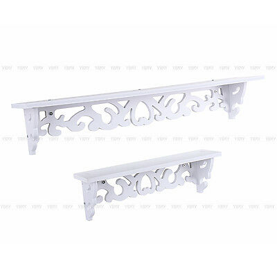 9 Of 12 White Shabby Chic Filigree Style Shelves Cut Out Design Wall Shelf Home Us Ship