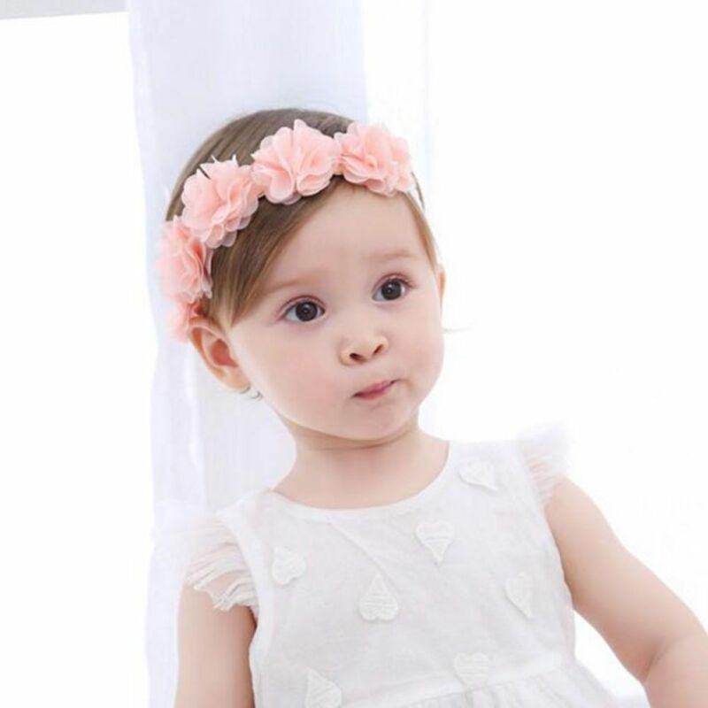 Cute Lace Flower Kids Baby Girl Toddler Headband Hair Band Headwear Accessories 7