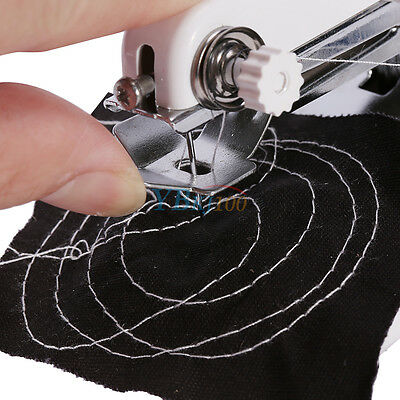 Hand Held Sewing Machine Portable Electric Stitch Mini Cordless Fabric Battery 10