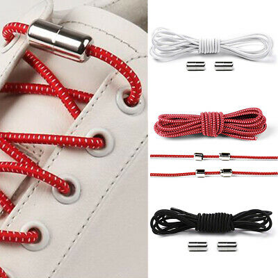 Easy No Tie Rubber Shoe Laces For Adults Kids Trainers Canvas Elastic ShoeLaces 5