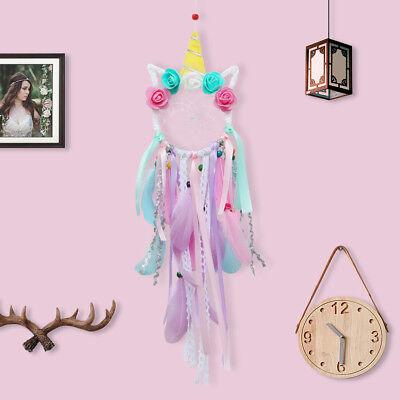 Handmade Colorful Unicorn Dream Catcher Girl's Gift Wall Hanging DreamCatcher 12
