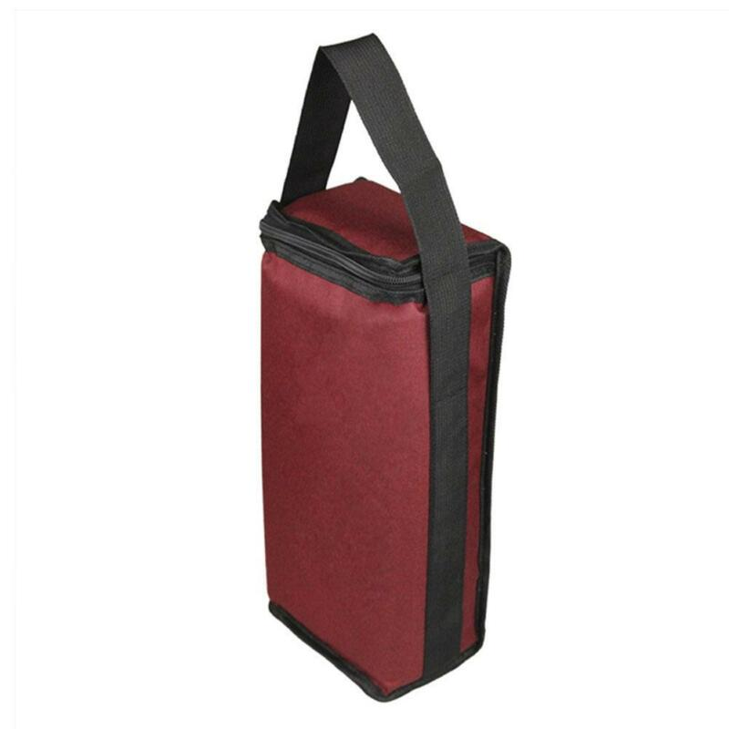 Portable Red Wine Tote Bag 2-Bottle Carrier Insulated Holder Cooler Ice Pack 2
