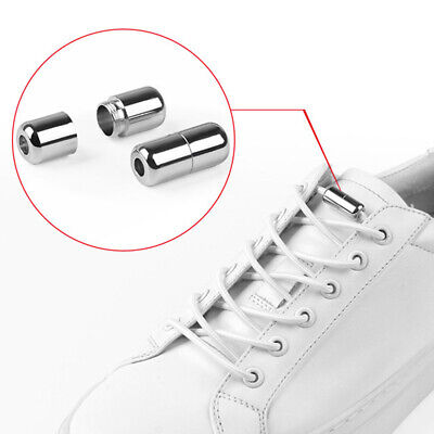 Easy No Tie Rubber Shoe Laces For Adults Kids Trainers Canvas Elastic ShoeLaces 4