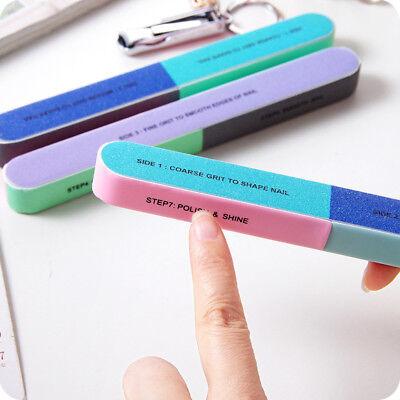 Nail File Buffer Shiner Finger Toe Manicure Pedicure Polishing Sanding Flowery