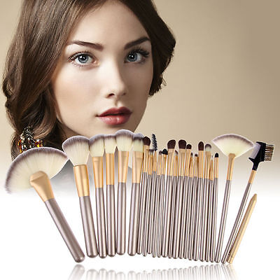 Pro 24 Pcs Makeup Brushes Cosmetic Tool Kit Eyeshadow Powder Brush Set+ Case 2
